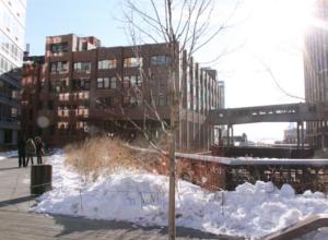 ニューヨークの空中公園、ハイラインも雪景色_b0007805_0264731.jpg