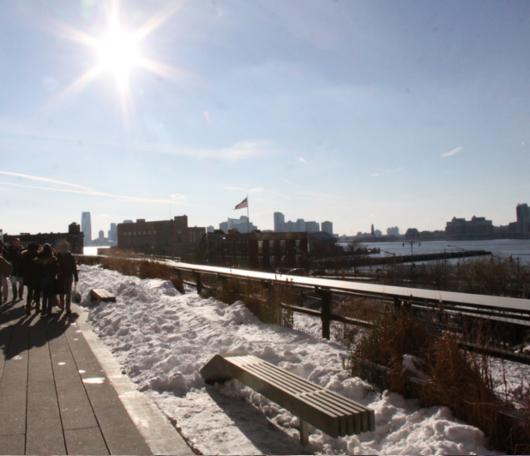 ニューヨークの空中公園、ハイラインも雪景色_b0007805_0272764.jpg
