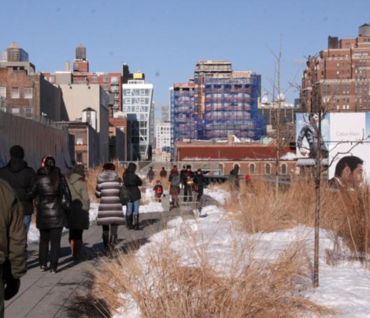 ニューヨークの空中公園、ハイラインも雪景色_b0007805_028273.jpg