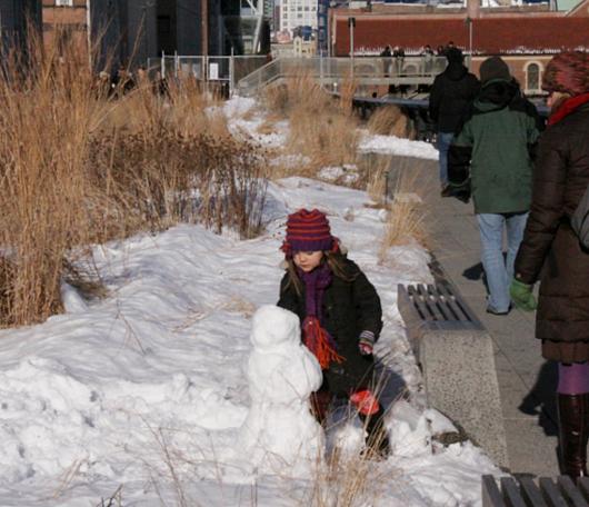 ニューヨークの空中公園、ハイラインも雪景色_b0007805_029184.jpg
