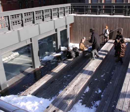 ニューヨークの空中公園、ハイラインも雪景色_b0007805_0471554.jpg