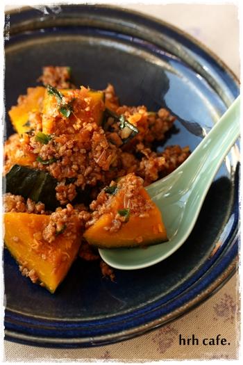 ほっこり南瓜のピリ辛韓国肉味噌 と、また試験受けます♪_b0165178_21463953.jpg
