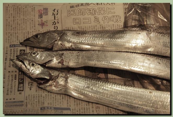 太刀魚のムニエル、ウィーン風_f0079990_1034931.jpg