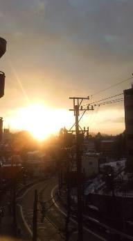 雪の日の 朝日_b0206197_8565391.jpg