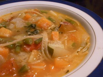 ++野菜たっぷりフレンチスープ++_e0140921_10214124.jpg