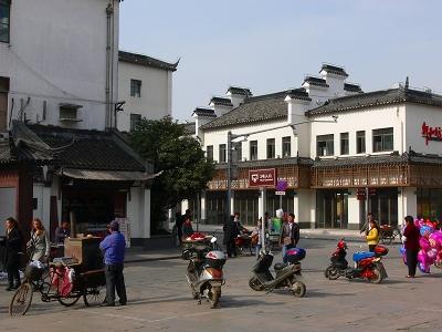 中国出張2010年12月-週末旅行-第一日目-朱家角鎮(I) チケット、放生橋、阿婆茶楼、東・西井街_c0153302_16504931.jpg