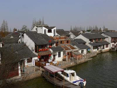中国出張2010年12月-週末旅行-第一日目-朱家角鎮(I) チケット、放生橋、阿婆茶楼、東・西井街_c0153302_16565796.jpg
