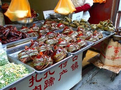 中国出張2010年12月-週末旅行-第一日目-朱家角鎮(I) チケット、放生橋、阿婆茶楼、東・西井街_c0153302_16591279.jpg