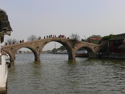 中国出張2010年12月-週末旅行-第一日目-朱家角鎮(I) チケット、放生橋、阿婆茶楼、東・西井街_c0153302_16595483.jpg