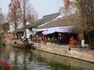 中国出張2010年12月-週末旅行-第一日目-朱家角鎮(I) チケット、放生橋、阿婆茶楼、東・西井街_c0153302_17105354.jpg