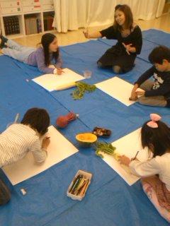 松井山手教室~絵手紙つくり~_f0215199_2221767.jpg