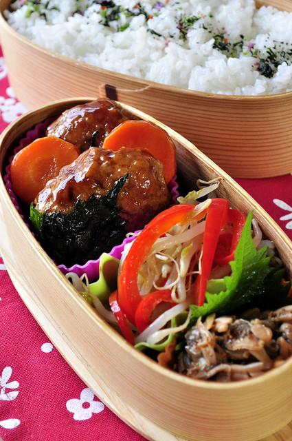 鶏の豆腐入りつくねのお弁当_b0171098_82115.jpg