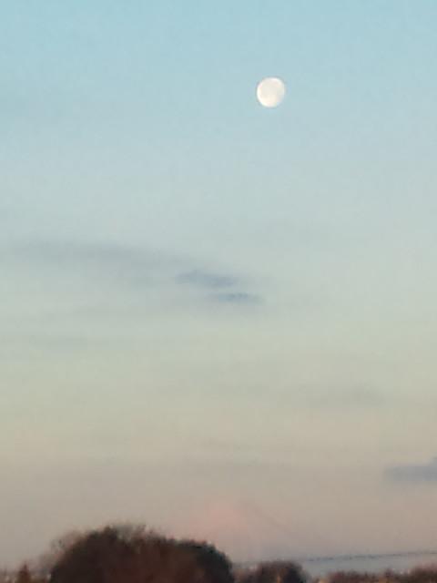 朝7時の月と富士・・・鎌倉関谷畑から_c0222448_18191050.jpg
