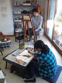 土曜日のレッスン、水彩画完成作品です〜_c0131063_22132732.jpg
