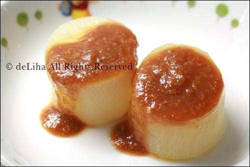 【圧力鍋料理】ふろふき大根+柚子味噌_c0131054_12371781.jpg