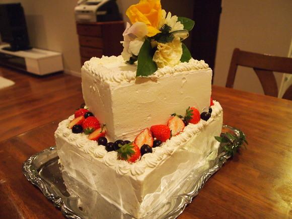 ウエディングケーキ試作2_c0119259_21512888.jpg