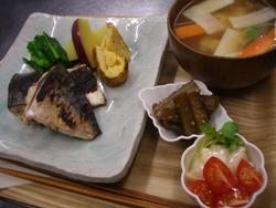 1/25晩ごはん:焼き〆鯖と玉子焼き_a0116684_18491955.jpg