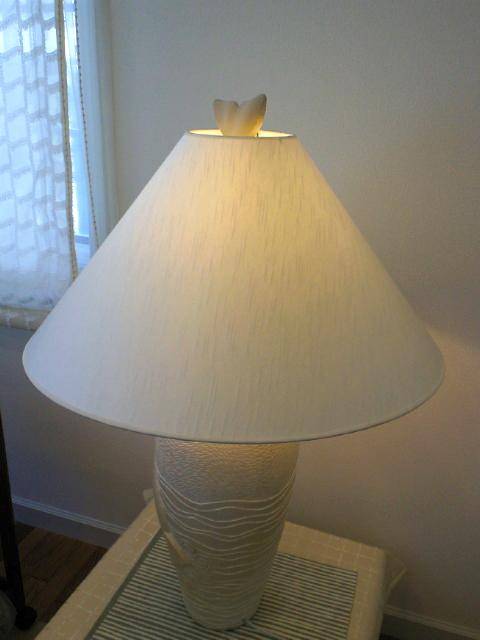 素敵なランプシェードを張り替えました。_c0157866_13412717.jpg