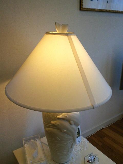 素敵なランプシェードを張り替えました。_c0157866_139780.jpg