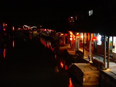 中国出張2010年12月-週末旅行-第一日目-西塘鎮(I) 素敵な夜の景色と夕食_c0153302_23585891.jpg
