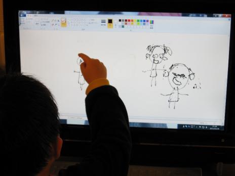 ジュニア、パソコンで絵を描く : golf&movies the Blog