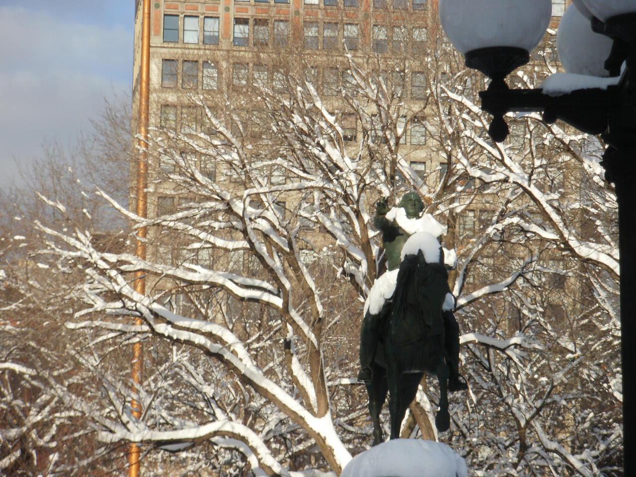 大雪の風景と陶芸作品_f0095325_14414736.jpg