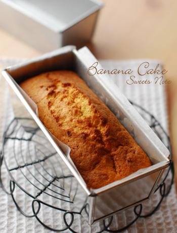 キャラメルケーキとバナナケーキ_c0169657_22184238.jpg
