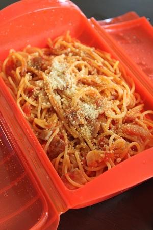 ルクエ トマトとベーコンのスパゲティー_b0189489_15102236.jpg