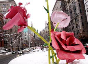 """NYのパーク・アベニューに大きなバラのパブリック・アート、""""The Roses""""展示中_b0007805_15291956.jpg"""