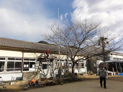 岬の歴史館事前説明会&孝子小学校校庭清掃_c0108460_2034611.jpg