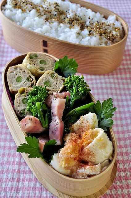 明太玉子と菜の花のお弁当_b0171098_7402974.jpg