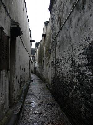 中国出張2010年12月-週末旅行-第二日目-西塘鎮(III) 釦博物館、張正根彫芸術館、路地_c0153302_1602237.jpg