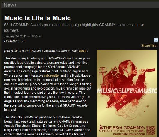 グラミー賞が作った「音楽の世界旅行」を楽しめるSNS的なデジタル・プラットフォーム、MusicIsLifeIsMusic_b0007805_035173.jpg