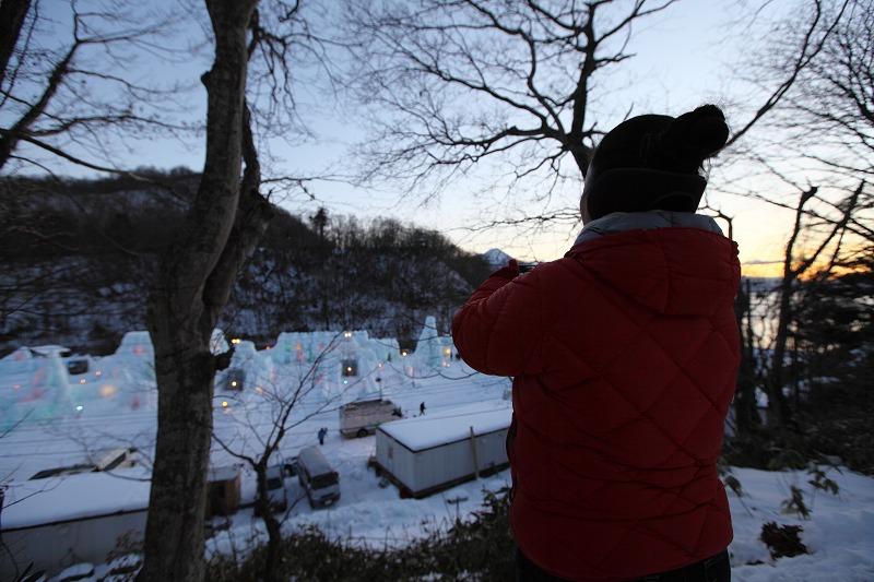 支笏湖氷濤祭り前夜 会場準備 1/27_a0160581_20324469.jpg