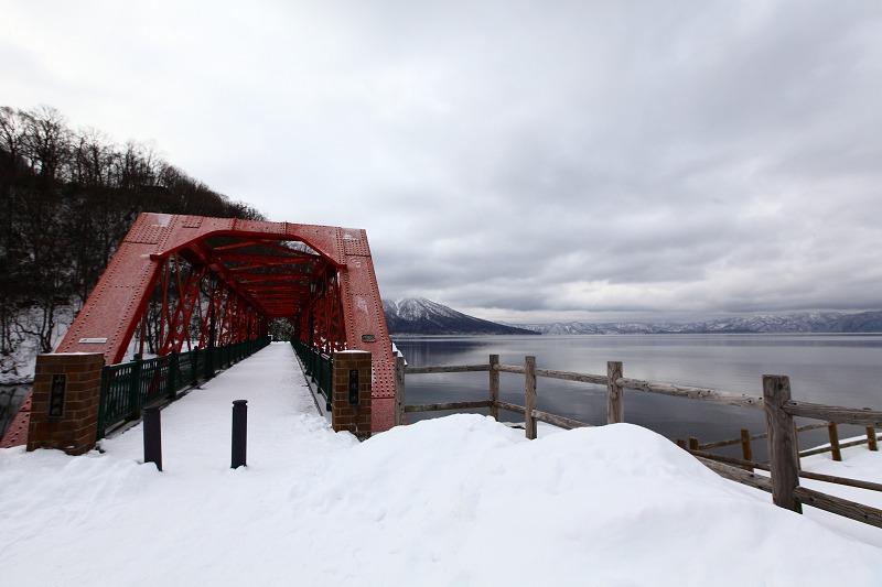 1/28 支笏湖 今日は雲が厚い_a0160581_21401220.jpg