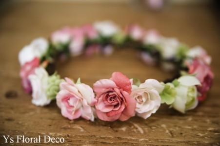 ななめにかぶる花冠とお揃いのブーケ_b0113510_10143850.jpg