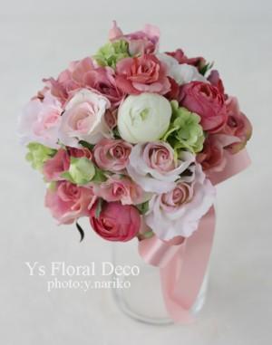 ななめにかぶる花冠とお揃いのブーケ_b0113510_10145240.jpg