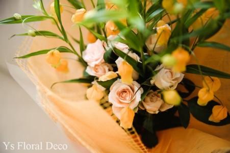 ななめにかぶる花冠とお揃いのブーケ_b0113510_101506.jpg