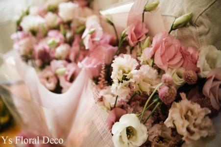 ななめにかぶる花冠とお揃いのブーケ_b0113510_1015764.jpg