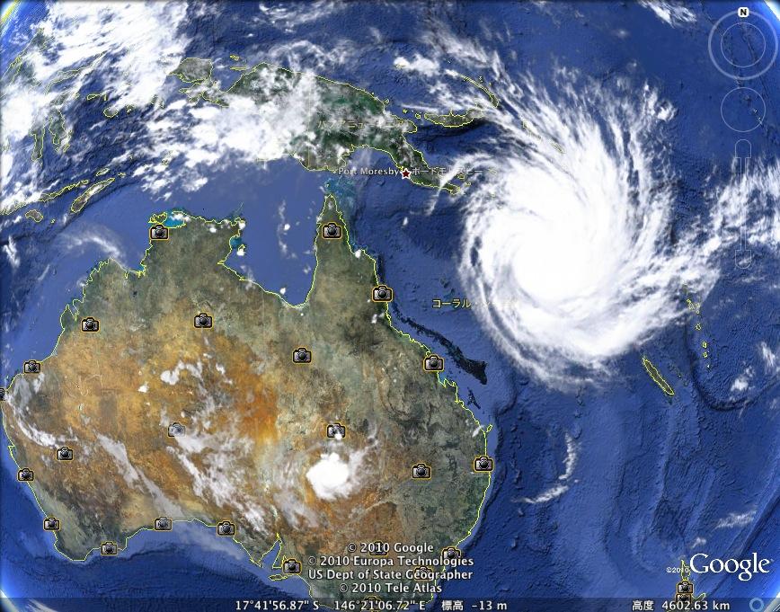 豪州に大型サイクロン上陸の可能性:超巨大台風「ヤシ」接近!_e0171614_23192639.jpg