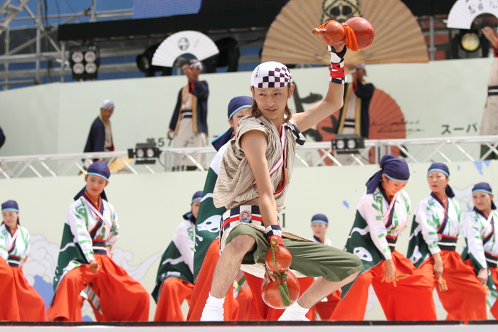 2010年よさこい祭り 全国大会 よさこい鳴子連 今日一屋_a0077663_1884398.jpg