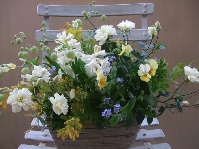 オークリーフ(グリーンアイスと春の草花のアレンジメント)_f0049672_111383.jpg