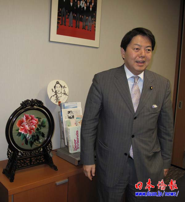 日本前经济财政大臣感谢周强送礼 祝福中国春节_d0027795_14541495.jpg