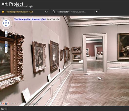 ストリート・ビューでメトロポリタン美術館のバーチャルお散歩を楽しめます Google Art Project_b0007805_3532233.jpg