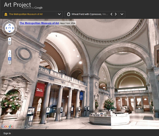 ストリート・ビューでメトロポリタン美術館のバーチャルお散歩を楽しめます Google Art Project_b0007805_353379.jpg