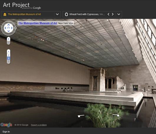 ストリート・ビューでメトロポリタン美術館のバーチャルお散歩を楽しめます Google Art Project_b0007805_3534023.jpg