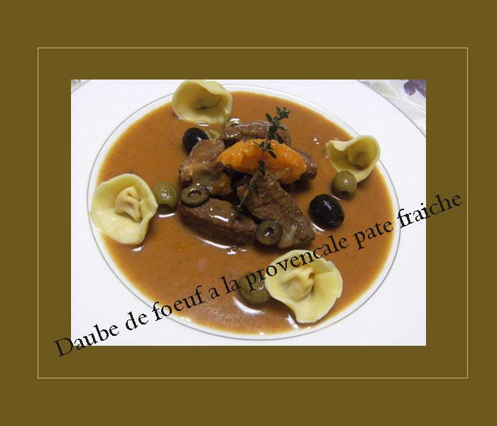 プロヴァンス風牛肉の煮込み フレッシュパスタ添え_d0109415_19504071.jpg