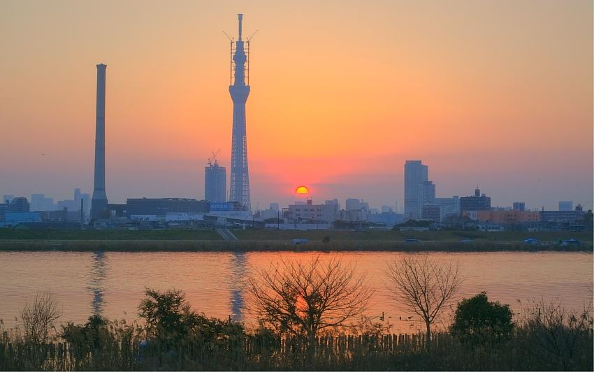 ダイヤモンド富士・葛飾区荒川堤防上_a0150260_2340057.jpg