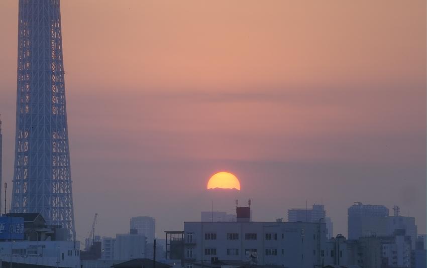 ダイヤモンド富士・葛飾区荒川堤防上_a0150260_23405992.jpg