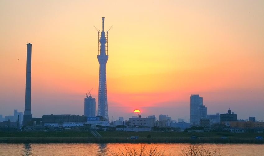 ダイヤモンド富士・葛飾区荒川堤防上_a0150260_2342417.jpg